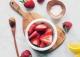 ماسک روشن کننده توت فرنگی و لیمو