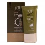 ژوت کرم ضد آفتاب آقایان مناسب انواع پوست اس پی اف 50 بی رنگ