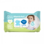 دافی دستمال مرطوب پاک کننده درب دار کودک اکسترا بسته بندی آبی و سبز صد عددی