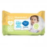 دافی دستمال مرطوب پاک کننده درب دار کودک اکسترا بسته بندی زرد و سبز صد عددی