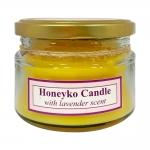 هانیکو کندل شمع درب فلزی زرد با رایحه لوندر