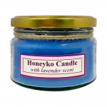 هانیکو کندل شمع درب فلزی آبی با رایحه لوندر