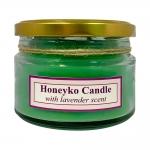 هانیکو کندل شمع درب فلزی سبز با رایحه لوندر