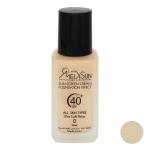 مدیسان ضد آفتاب کرم پودری شیشه ای بژ خیلی روشن مناسب انواع پوست اس پی اف 40