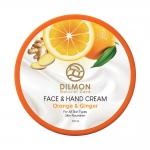دیلمون کرم مرطوب کننده دست و صورت حاوی عصاره پرتقال و زنجبیل